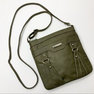 NEW DIRECTIONS Olive Green Crossbody Bag Purse